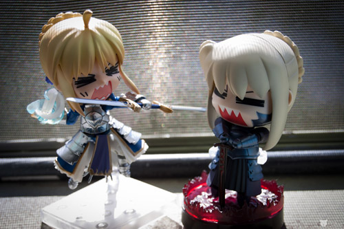 Saber and Saber Alter duking it out